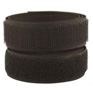 Lialina 2 lfm Klettband in Schwarz zum Nähen I Hakenband & Flauschband I Breite 20mm I Nicht Selbstklebend aus Polyester & Nylon I Klettverschluss wiederverwendbar für Nähmaschine Kleidung