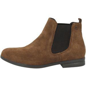 Tamaris Damen Chelsea Boots Leder Stiefeletten 1-25370-25, Größe:41 EU, Farbe:Braun