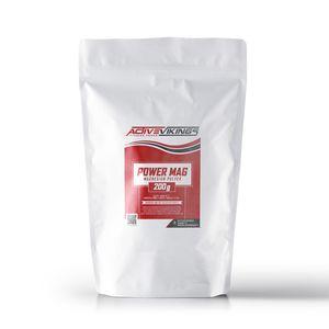 ActiveVikings Power Mag Pulver 200g Beutel - Ideales Magnesiumcarbonat für das Klettern, Bouldern, Fitness und Kraftsport Training