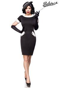 Rockabilly Vintage Retro Look Kleid schwarz/weiß Größe L = 40