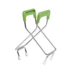 WECK Glashebezange mit Gummigriff grün/silber Edelstahl/Gummi spülmaschinengeeignet