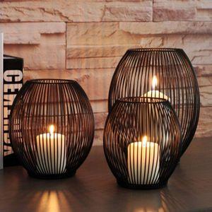 3x Metalldraht Kerzenhalter Dekorative Canlestick Hochzeitspartys Nachbildung