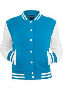 Urban Classics Ladies 2-tone College Sweatjacket, Farbe:gry/wht, Größe:L