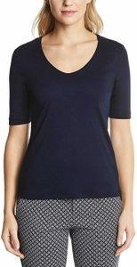 Street One Damen T-Shirt A313104 Deep Blue