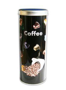 KAFFEEDOSE mit Nachbildung Ø7,5x20cm Kaffeepaddose Kaffee Paddose Coffee Blechdose 66