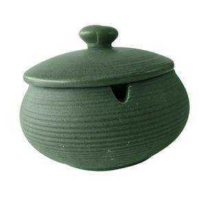 Keramikaschenbecher mit winddichtem Deckel für den Innen- und Außenbereich Hellgrün 11x8cm Keramik Aschenbecher mit Deckel
