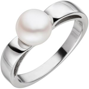 JOBO Damen Ring 54mm 925 Sterling Silber 1 Süßwasser Perle Perlenring Silberring