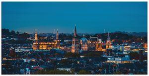 ARTland Alubilder Aachen Skyline II Alubild Größe: 150x75 cm