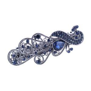 Haarspangenklemme Elegante Schmuckklammer Für Hochzeit Damen 658 Blau Farbe 658 Blau