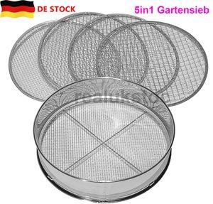 Miixia Siebmeister 5000, 5in1 Gartensieb, 5 austauschbare Siebeinsätze Ø 3,5,8,10,12mm