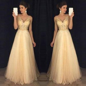 Frauen Mode y Abendkleid Hochzeit Ärmellose Party V-Ausschnitt Langes Kleid Größe:S,Farbe:Beige