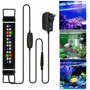 Boomersun 45-60cm LED Aquarium Beleuchtung mit Timer Vollspektrum Abdeckung Aufsetzleuchte RGB Lampe Plant