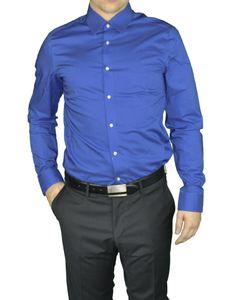 Redmond - Herren Slim Fit Hemd in verschiedenen Farben (400130), Größe:XS, Farbe:Blau(12)