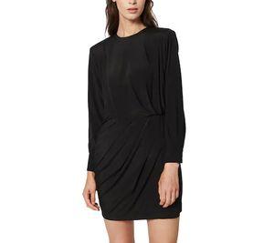 POSTYR Mini-Kleid reizendes Damen Cocktail-Kleid mit 2-Knopf-Manschetten Schwarz, Größe:38