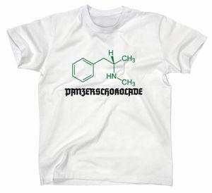 Styletex23 T-Shirt #3 Crystal Meth Panzerschokolade Pervitin, weiss, XL