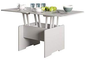 Couchtisch - höhenverstellbar - ausklappbar - Hellgrau - Wohnzimmer - Tisch - Funktionstisch