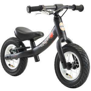 BIKESTAR Mitwachsendes Kinder Laufrad ab 2 - 3 Jahre   10 Zoll Sport Lauflernrad   Schwarz