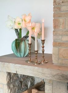 Kerzenhalter ESTELLE 3er- Set altgold Kerzenständer