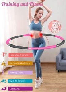 Hula hoop  Slimming Hoop, Adult Hula Hoop, Fitness Hula Hoop, Home Sports Equipment, 8 Removable Sections
