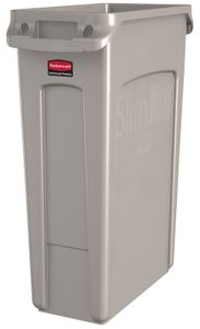 Slim Jim mit Luftschlitze 87 Liter, Rubbermaid, Farbe:Beige