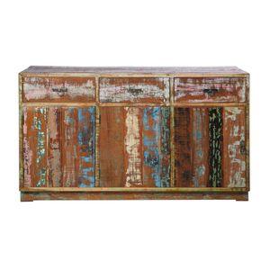Kare Sideboard Vintage Colore aus recyceltem Teakholz
