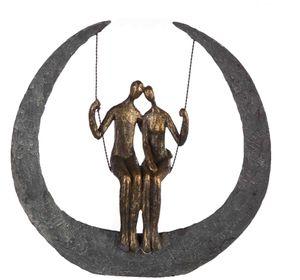 Casablanca Skulptur Swing Figur Paar auf Schaukel Hochzeit Liebe Dekoration