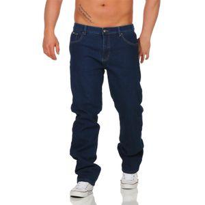 Six Jeans Herren Thermo Jeans Hosen Winter Blau 46
