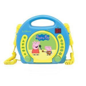 LEXIBOOK - PEPPA PIG - Kinder-Karaoke-CD-Player mit 2 Mikrofonen