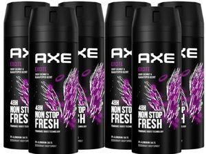 AXE Bodyspray Excite 6x 150ml Deospray Deodorant Deo Spray Herren Männer Men Männerdeo ohne Aluminium