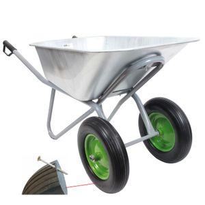 TrutzHolm® Schubkarre Schiebkarre Gartenkarre Zweiradkarre 2-Rad PolyurethanRad 150l 150kg