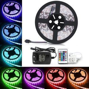 LED Streifen 5m Beleuchtung Lichterkette RGB LED Stripe Band Strip Fernbedienung