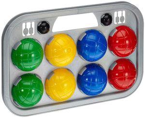 Boccia-Spiel mit 8 Kugeln und Tragekoffer Wurfspiel Spielkugeln Kinderspiel