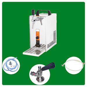 Komplett Set - Bier Zapfanlage PYGMY 20/K mit Membranpumpe, 1-leitig Trockenkühlgerät aus Edelstahl, 20 Liter/h, Green Line, Zapfkopf:Kombi