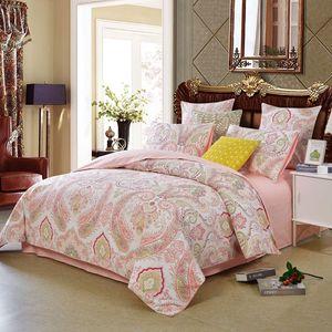 Bettwäsche 135x200cm Bettbezug Rosa Boho Indischen Mandala Böhmisch Wendebettwäsche Set und 1x80x80cm Kissenbezug