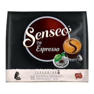 Senseo Espresso, aromatisch vollmundiger Röstkaffee, 16 Pads