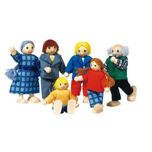 goki SO218 Biegepuppen City Familie, mehrfarbig (1 Set)