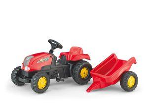 rolly toys Kid  Trettraktor mit Anhänger rot, Maße: 134x47x52 cm; 01 212 1