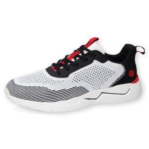 Dockers by Gerli Herren Sportiver Sneaker Low Top, Farbe:Weiß (Weiß / Schwarz), Größe:EUR 44