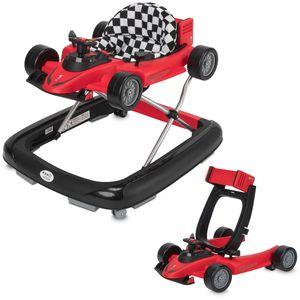 ib style® 2 in 1 LITTLE RACER Gehfrei & abnehmbarer Laufwagen Babywalker Lauflernwagen Laufhilfe Licht & Sound ROT