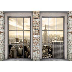 Fenster nach New York 9345c RUNA Fenster nach New York VLIES FOTOTAPETE XXL DEKORATION TAPETE− WANDDEKO 308 x 220 cm