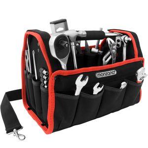 Werkzeugtasche Montagetasche Werkzeugbox Werkzeugkasten Werkzeug Schultergurt, Größe:L