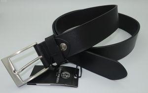 Lindenmann Gürtel Vollrind Ledergürtel, kürzbar, 4cm breit, schwarz Schwarz 95