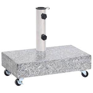 vidaXL Schirmständer Hellgrau 45x25x8,3 cm Granit