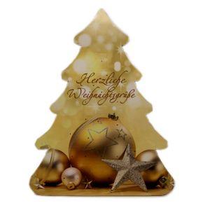 Tisch-Adventskalender Tannenbaum Gold mit Lindt Schokolade