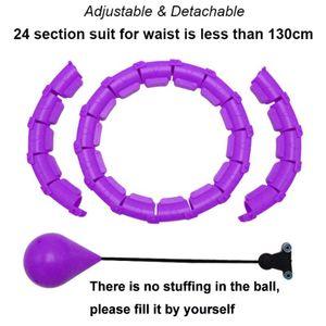 Einstellbare Sport Hoops Bauch Dünne Taille Übung Abnehmbare Massage Hoops Fitness Ausrüstung Gym Home Training Gewicht Verlust