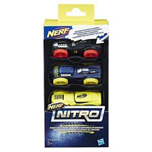 Hasbro C0774 sort. - Nerf - Nitro Soft Racer 3er Pack