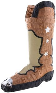 Pinata Cowboy Western Stiefel Kinder-Geburtstag Party Deko Feier Fete Motto