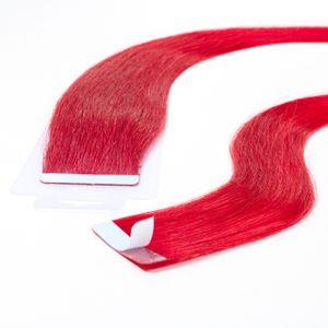 Tape Extensions glatt, Farbe:#rot, Länge:60cm