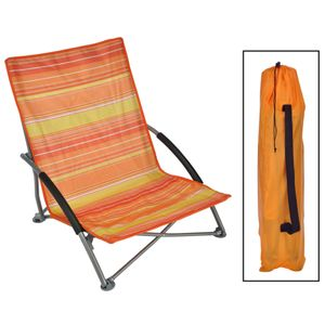HI Strandstuhl Klappbar Orange 65 × 55 × 25/65 cm