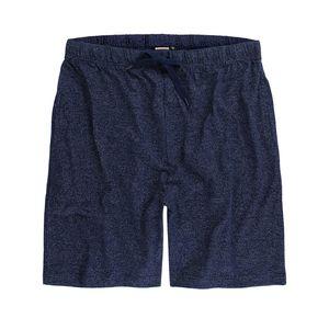 Herren Loungewear Short von ADAMO Serie Luis meliert in großen Größen bis 12XL, Größe:9XL, Farbe:navy
